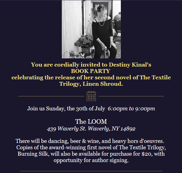 Linen Shroud book release party at The LOOM